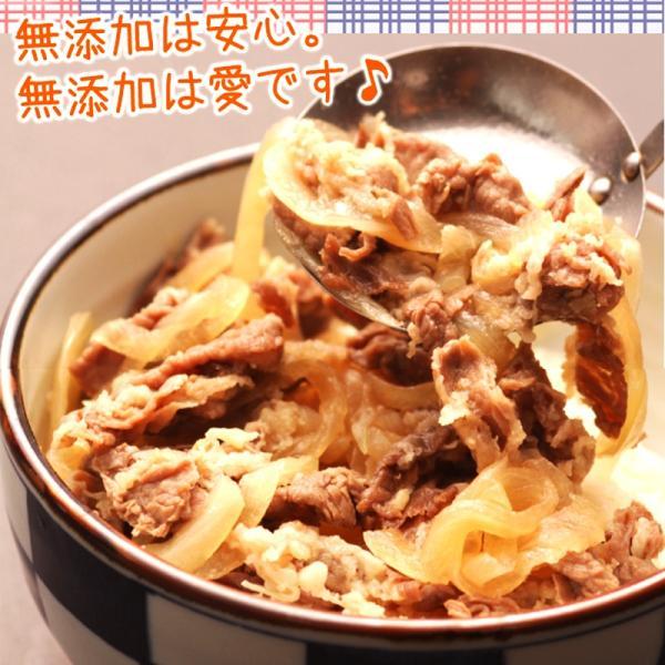 肉 牛肉 惣菜 冷凍 無添加 牛丼の具 150g×10パック 牛丼 お弁当 おかず グルメ 2セットで選べるオマケ付 送料無料|yuuzen-hb|04