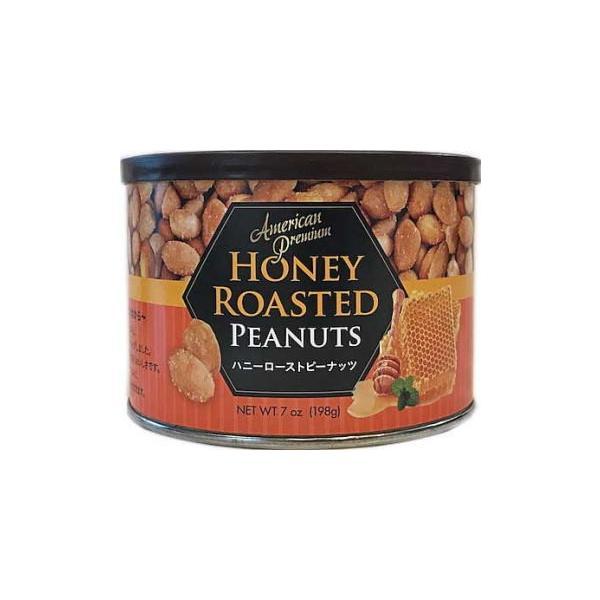 ●アメリカンプレミアム ハニーローストピーナッツ 198g缶■c12-2N