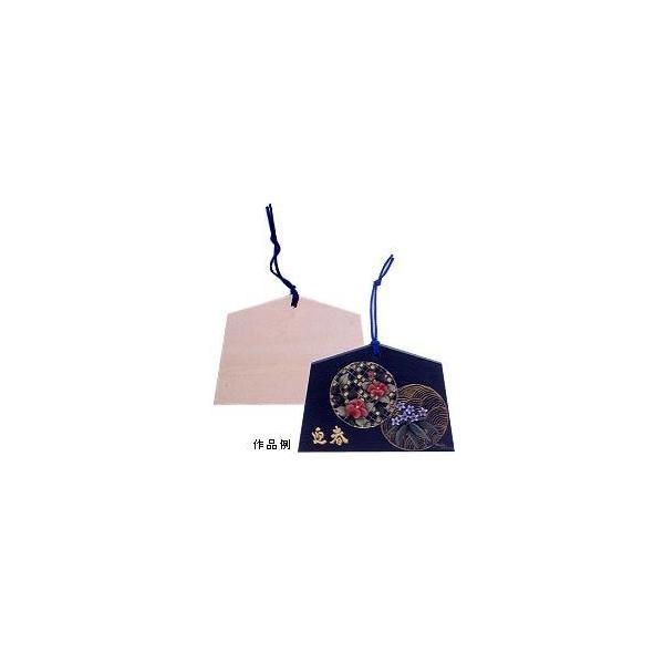 トールペイント土台 『白木 絵馬 (小) ニューイヤー お正月 B-213』 Country Craft カントリークラフト