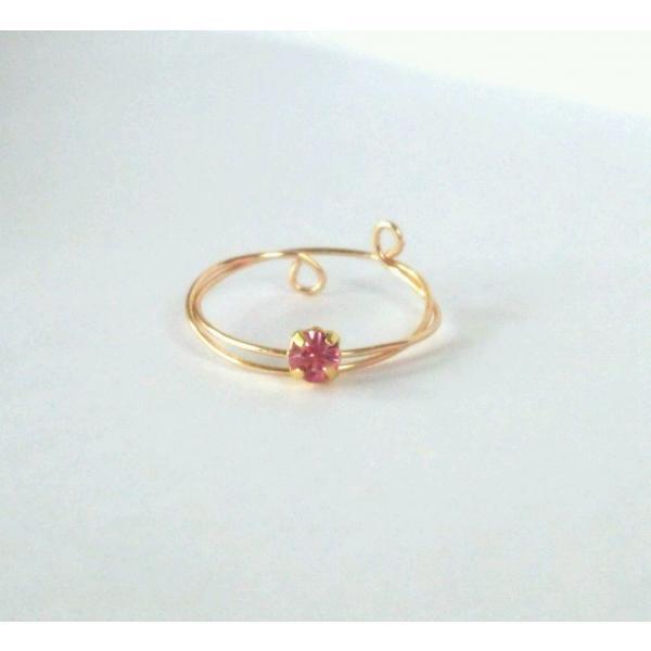可憐な プリンセス ゴールド ピンキーリング アクセサリー レディース 指輪 2号 3号 アーティスティックワイヤー|yuzuandlalokobo