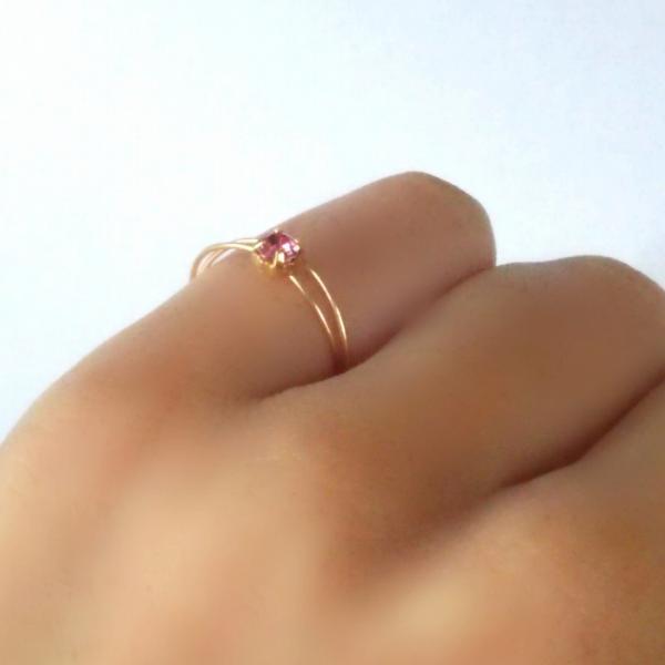 可憐な プリンセス ゴールド ピンキーリング アクセサリー レディース 指輪 2号 3号 アーティスティックワイヤー|yuzuandlalokobo|02