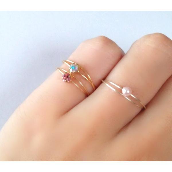 可憐な プリンセス ゴールド ピンキーリング アクセサリー レディース 指輪 2号 3号 アーティスティックワイヤー|yuzuandlalokobo|03