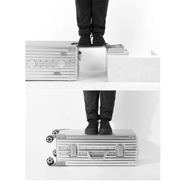 (P.I.) スーツケース キャリーケース TSAロック 半鏡面 アルミフレーム レトロ 旅行 出張 静音 超軽量 (XL, ブラック) (