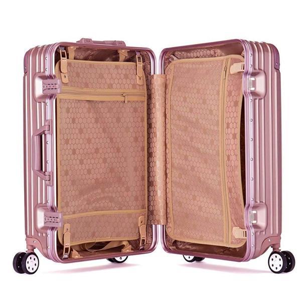Osonmアルミニウムマグネシウム合金製 スーツケース キャリーバッグ 機内持ち込みスーツケース TSAロック 自在車 キャスター 5色60