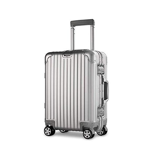 スーツケース アルミマグネシウム合金 キャリーバッグ ダブルキャスター・静音 キャリーケース TSAロック搭載 カバー付き 軽量 ビジネス向