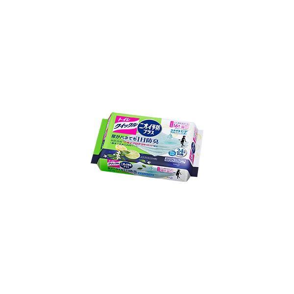 トイレクイックル ニオイ予防プラス シトラスミントの香り つめかえ用 ジャンボパック 16枚 花王 バス・トイレ用洗剤