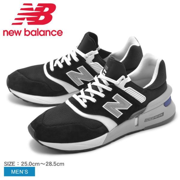 7f647ece89af4 NEW BALANCE ニューバランス スニーカー メンズ MS997HGA 靴 NB シューズ 通学 レザー 白 黒の画像