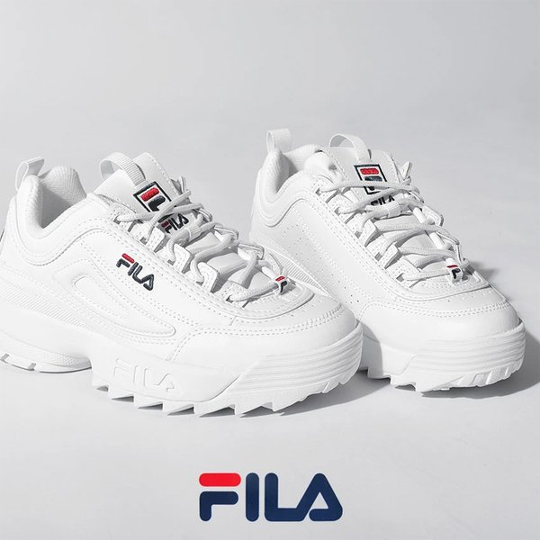 フィラ スニーカー レディース ディスラプター 2 プレミアム FILA 5FM00002 ホワイト 白 靴 シューズ 通勤 通学 ローカット 厚底|z-craft