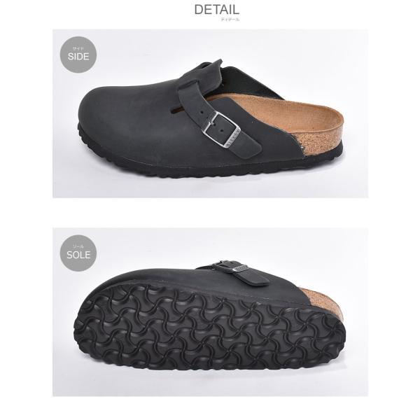 ビルケンシュトック ボストン レディース レザー BOSTON 細幅 シューズ スリッパ 歩きやすい つっかけ 靴 黒 BIRKENSTOCK サンダル クロッグ z-craft 05