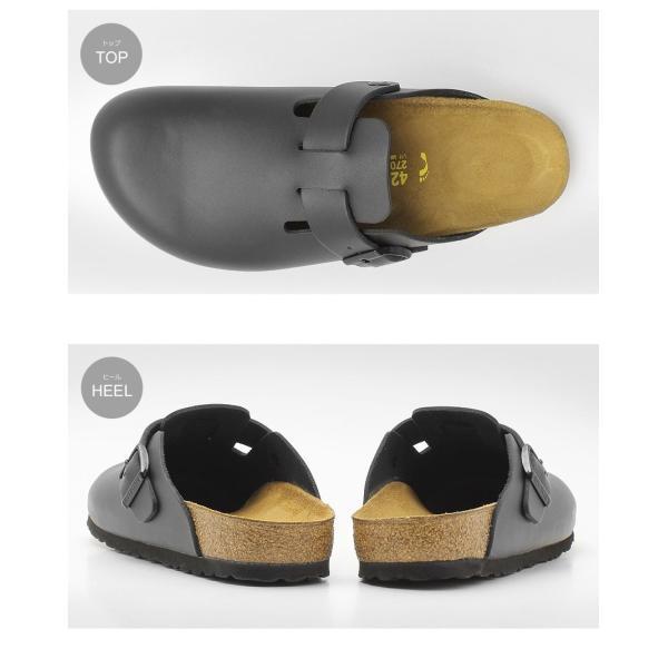 ビルケンシュトック ボストン メンズ レディース サンダル BOSTON 細幅 スリッパ カジュアル 靴 黒 BIRKENSTOCK クロッグ 黒 本革 レザー z-craft 06