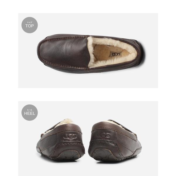 UGG アグ スリッポン アスコット ASCOT 5379 メンズ 靴 レザー シューズ ローファー フラットシューズ|z-craft|05