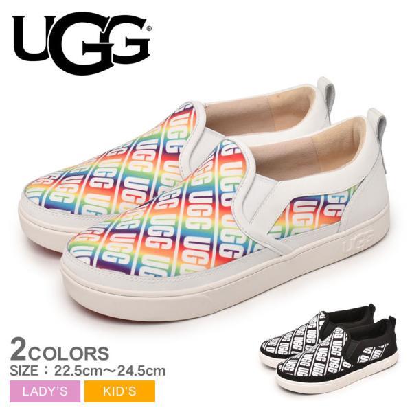 アグ スリッポン レディース キッズ ジュニア 子供 K キャプラン スリップオン アグ UGG 1107976K ブラック 黒 ホワイト 白 靴