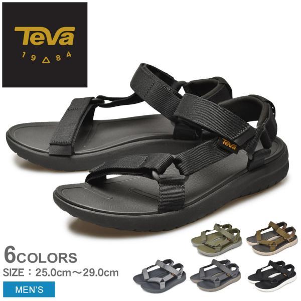 (セール) テバ サンダル メンズ サンボーン ユニバーサル TEVA 1015156 ブラック 黒 グレー テヴァ アウトドア ストラップ ビーチサンダル