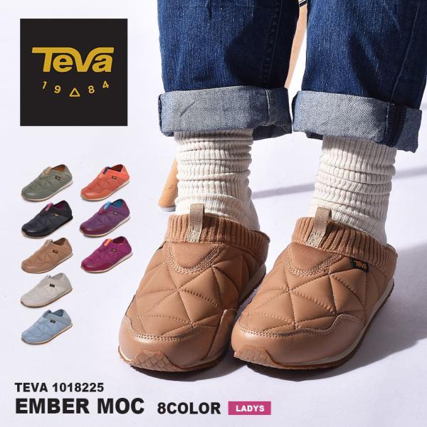 テバ スリッポン レディース エンバーモック TEVA 1018225 2WAY 靴 シューズ ブラック 黒 ホワイト 白 カーキ カジュアル キャンプ|z-craft