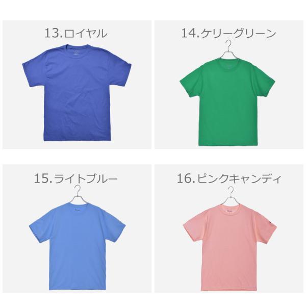 (メール便 送料無料) チャンピオン Tシャツ メンズ レディース CHAMPION T425 ブラック 黒 ホワイト 白 グレー ウェア ウエア トップス カジュアル|z-craft|07
