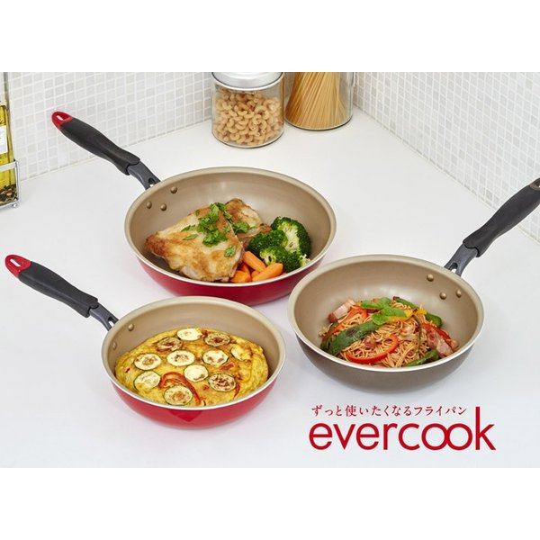 エバークック EVERCOOK フライパン EVERCOOK 28cm 炒め EFPDN28RD IH対応 ガスコンロ対応 深型 料理 キッチン z-craft 04