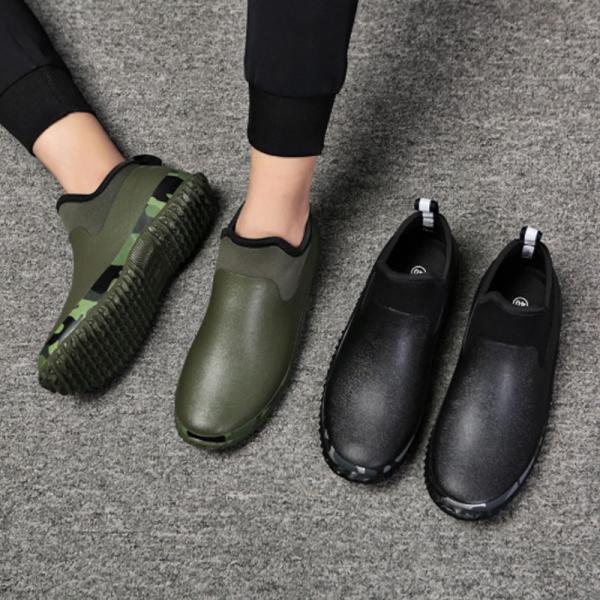 レインシューズ メンズ スニーカー おしゃれ スニーカー カジュアル ショート 防水 雨靴 長靴 軽い 軽量 ブーツ  父の日 プレゼント|z-fashion