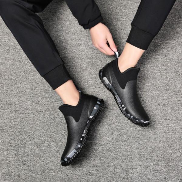 レインシューズ メンズ スニーカー おしゃれ スニーカー カジュアル ショート 防水 雨靴 長靴 軽い 軽量 ブーツ  父の日 プレゼント|z-fashion|05