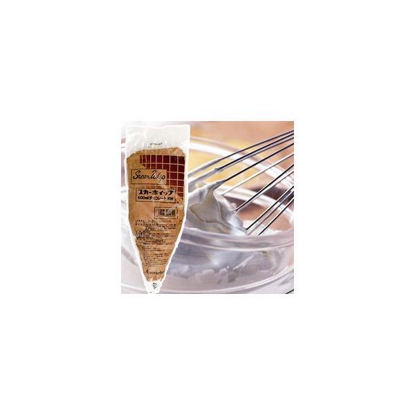 スカーホイップ チョコレート 600ml デコレーション チョコ味 チョコレート味 生クリーム ホイップクリーム ケーキ スイーツ デザート おやつ 業務用 [冷凍食品]