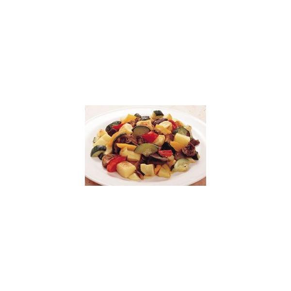 地中海野菜グリルのミックス 600g カゴメ ジャガイモ ナス ズッキーニ 赤パプリカ 黄パプリカ 野菜 ベジタブル そのまま使える カット済 業務用 [冷凍食品]