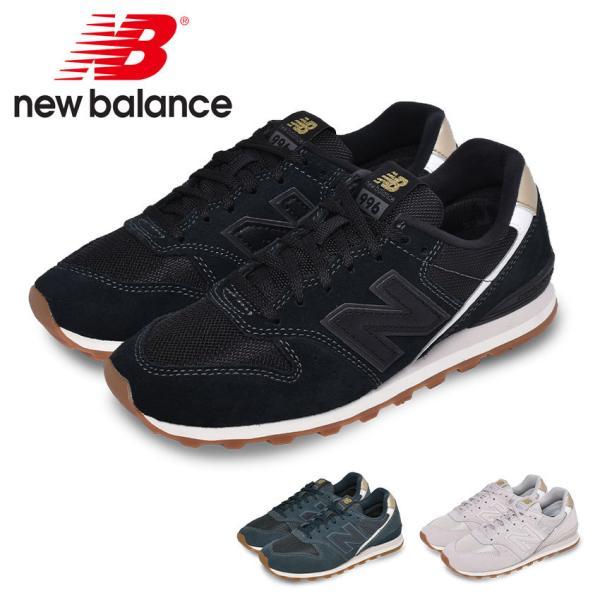 ニューバランススニーカーレディースWL996NEWBALANCEWL996ブラック黒ホワイト白靴シューズシンプル定番人気