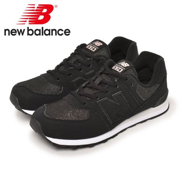 ニューバランススニーカーレディースキッズジュニア子供GC574NEWBALANCEGC574FB2ブラック黒靴シューズ通勤通学
