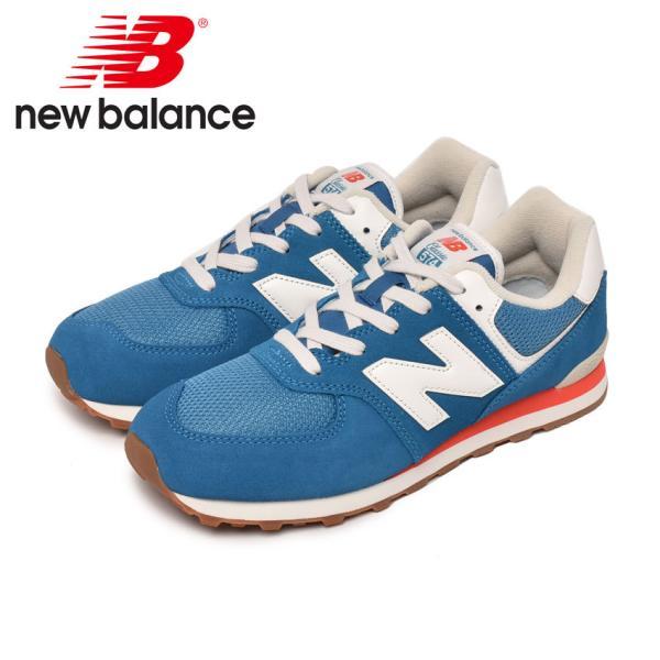 ニューバランススニーカーレディースキッズジュニア子供GC574NEWBALANCEGC574靴シューズホワイト白カジュアルNB