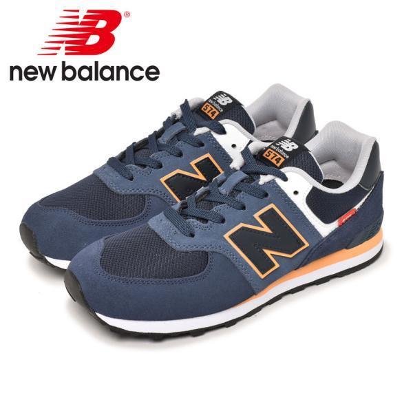 ニューバランススニーカーレディースキッズジュニア子供GC574NEWBALANCEGC574SY2ネイビー靴シューズ通勤通学