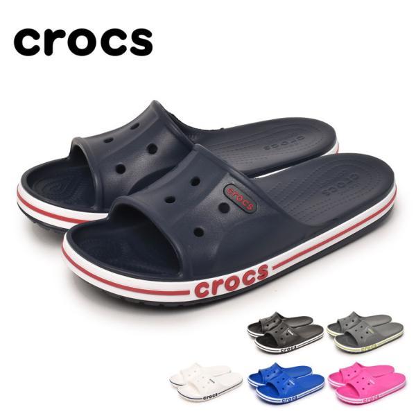 クロックスサンダルメンズレディースバヤバンドスライドCROCS205392ブラック黒ホワイト白ネイビー靴シューズ