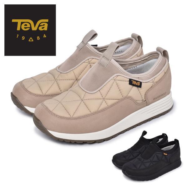 テバ スリッポン レディース エンバー コミュート スリッポン ウォータープルーフ TEVA 1116050 黒 ブラック ベージュ ピンク