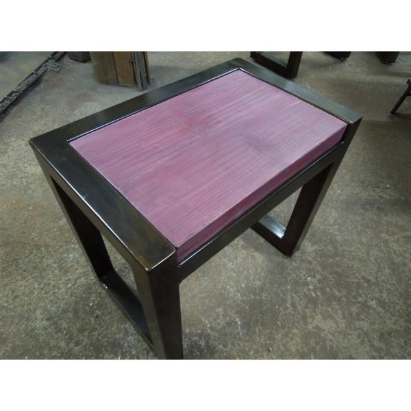 アイアンスツール 椅子 ミニテーブル サイドテーブル ヴィンテージ仕上げ 高40×幅44×奥行28.5 サイズオーダーOK。|zacc