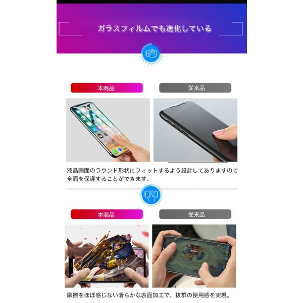 iphonexsmax ガラスフィルム 全面 iPhoneXS iPhoneX iPhoneXR 強化ガラス 液晶保護フィルム 9H 高硬度 スマホフィルム 薄型 耐衝撃 zacca-15 04