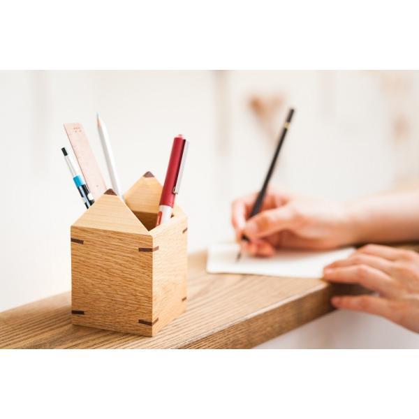 えんぴつ型えんぴつたて 木の鉛筆立て ぺんスタンド ぺん立て 小物入れ |zaccan-shop|02
