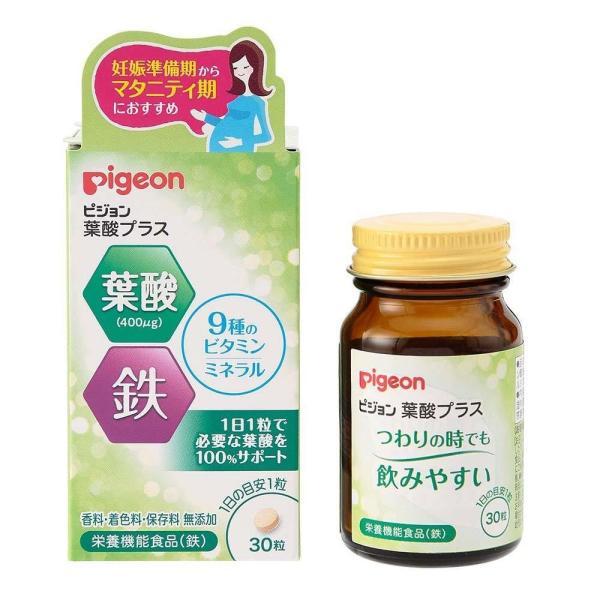 Pigeon(ピジョン) サプリメント 栄養補助食品  葉酸プラス 30粒(錠剤) 20390 代引き不可【COMシリーズ】
