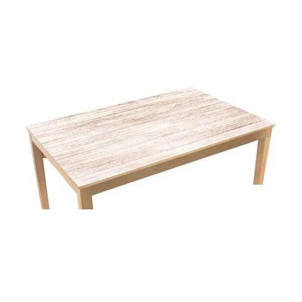 TABLECLOTH DECORATION テーブルデコレーション 貼る!テーブルシート 90cm×150cm ホワイトウッド IV・アイボリー 代引き不可【COMシリーズ】