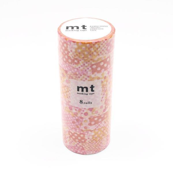 mt マスキングテープ 8P ネガポジドット・ピンク MT08D422 代引き不可【COMシリーズ】