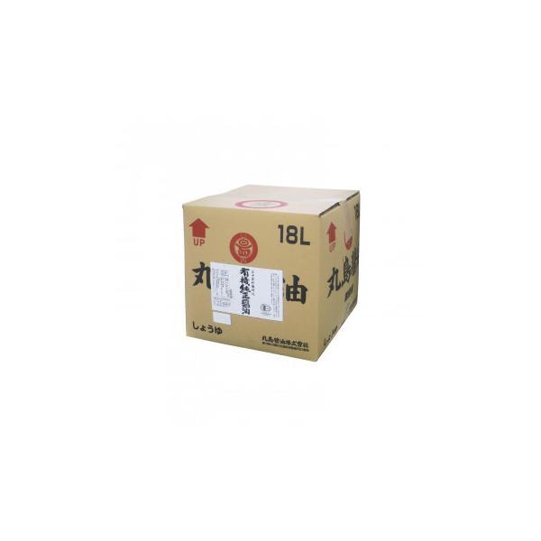 丸島醤油 業務用 有機純正醤油(濃口) 18L 1257   代引き・同梱不可【COMシリーズ】