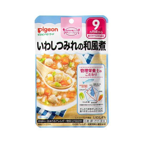 Pigeon(ピジョン) ベビーフード(レトルト) いわしつみれの和風煮 80g×72 9ヵ月頃〜 1007709 代引き不可【COMシリーズ】