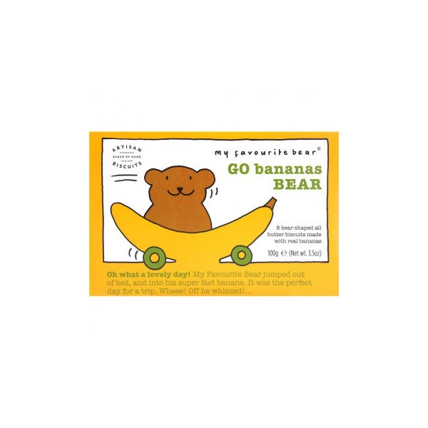アーティザン ベアー型ビスケット バナナ ベアー 100g 12セット   代引き・同梱不可【COMシリーズ】