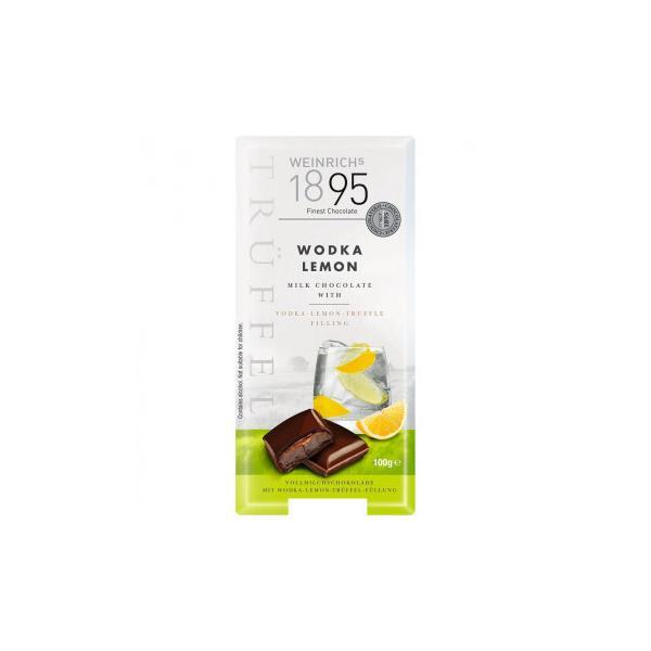ワインリッヒ ウォッカ レモン チョコレート 100g 120セット   代引き・同梱不可【COMシリーズ】