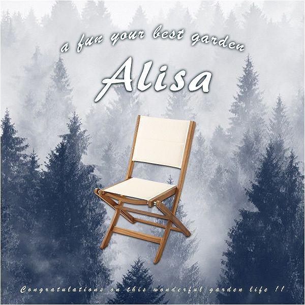 ガーデンチェア 2脚セット 折りたたみ クロス貼り 椅子 アカシア材 オイル仕上げ リゾート感 温もり送料無料