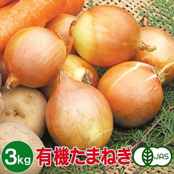 有機たまねぎ 3kg 有機玉ねぎ 有機玉葱 有機タマネギ 有機栽培 野菜 有機野菜 オーガニック 送料無料