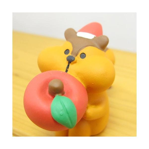 デコレ コンコンブル メリークリスマス コンブル アップルパーティ むしゃむしゃりんごりす  DECOLE concombre CHRISTMAS 雑貨 オブジェ置物 インテリア|zakka-fleur|02