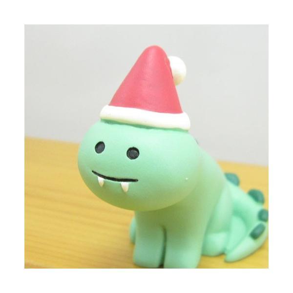 デコレ コンコンブル メリークリスマス コンブル アップルパーティ Merryザウルス  DECOLE concombre CHRISTMAS 雑貨 オブジェ置物 インテリア かわいい|zakka-fleur|02