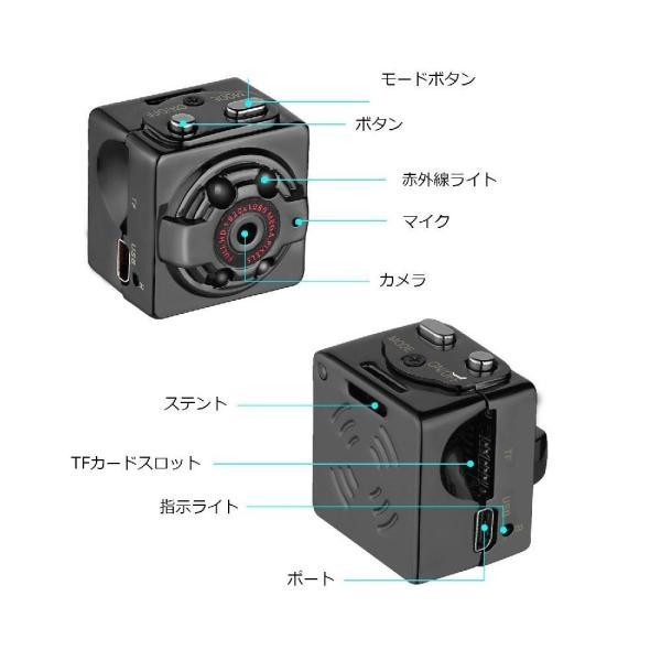 防犯カメラ 超小型 フルHD監視カメラ 送料無料 充電式 ウェアラブル micro SDカード 録画 1080P 親指サイズ|zakka-gs|02