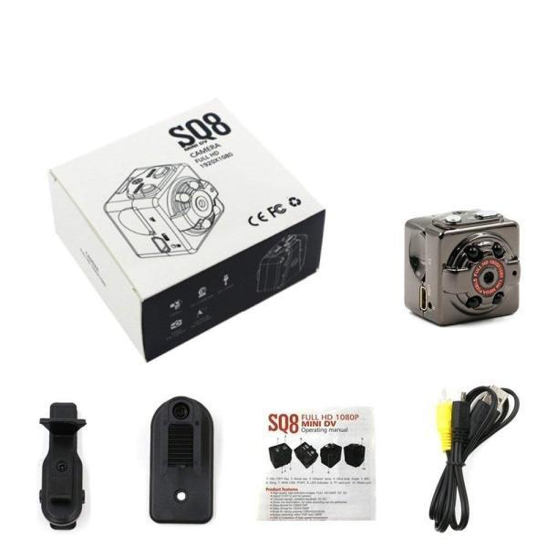 防犯カメラ 超小型 フルHD監視カメラ 送料無料 充電式 ウェアラブル micro SDカード 録画 1080P 親指サイズ|zakka-gs|03