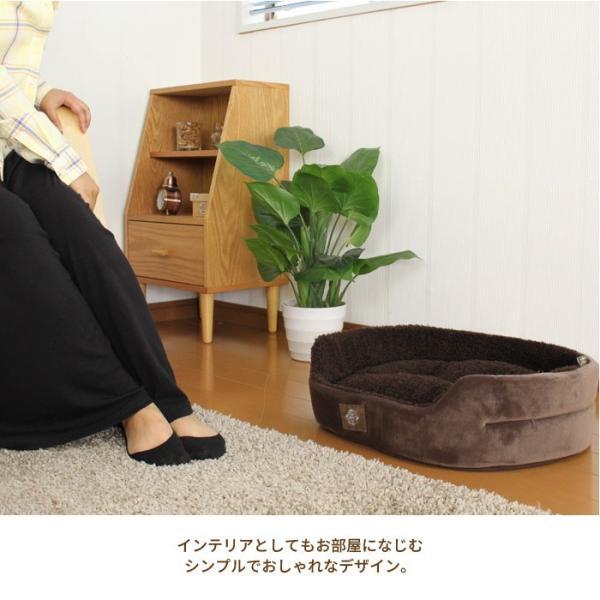 ペットベッド 猫ベッド 犬ベッド ペット用品 犬 猫 ペットクッション ペット用 あったかベッド ふわふわ もこもこ スーパーマイクロファイバー|zakka-gu-plus|04