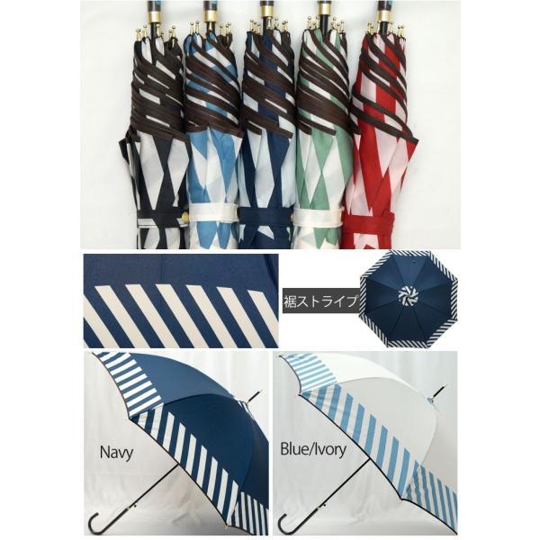 【★】傘 雨傘 送料無料 レディース 56.5cm 58cm かわいい ドット ストライプ ジャンプ傘/メール便不可
