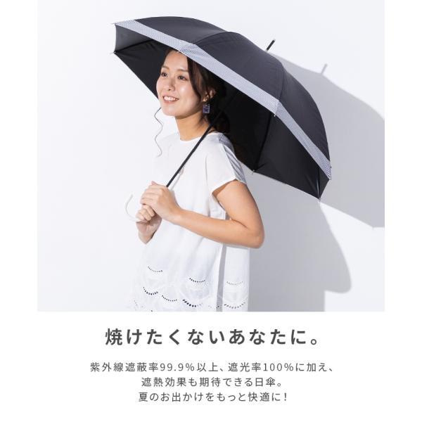 日傘 完全遮光 遮光率 100% UVカット 99.9% 紫外線対策 UV対策 晴雨兼用 レディース【宅配便送料無料】|zakka-naturie|02