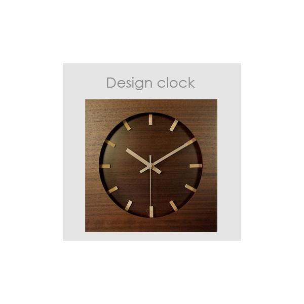 ウォールナット クロック スイープムーブメント V-088(掛け時計 木製 音がしない 壁掛け時計 連続秒針)|zakka-nekoya